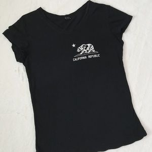 brandy melville california black shirt